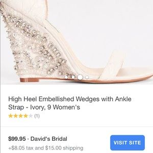 39aab4fec72d Betsey Johnson Shoes - Betsey Johnson Alisa Ivory Wedding Wedge Shoe